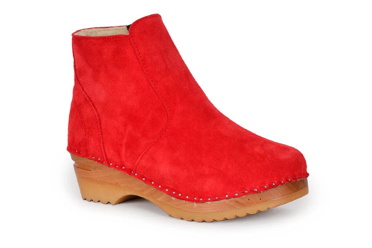 Turner Shearling Red Suede