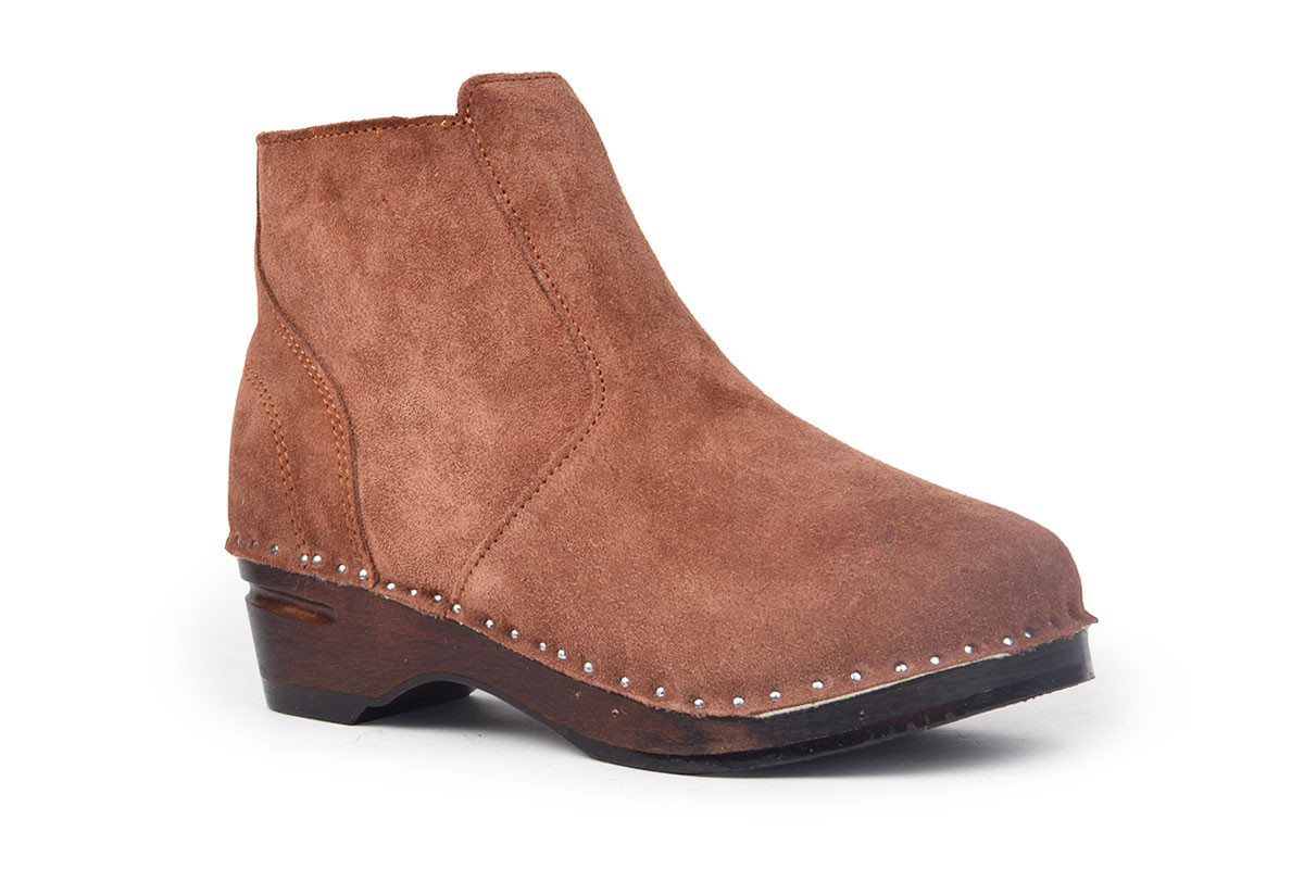 Turner Shearling Brown Suede