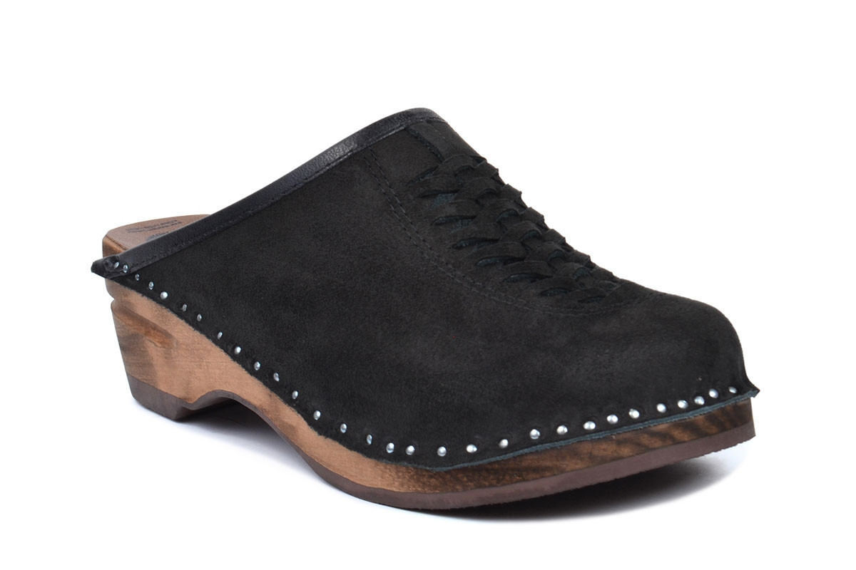 Wright Black Suede