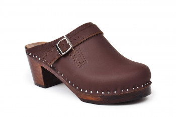 Raphael Brown Mid Heel