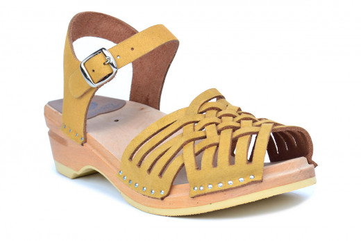 Anna Yellow Suede