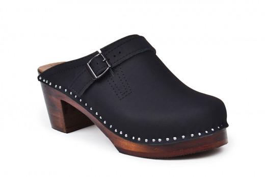 Raphael Black Mid Heel